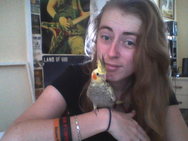 Here, have a perfectly plesant picture of my bird and I.